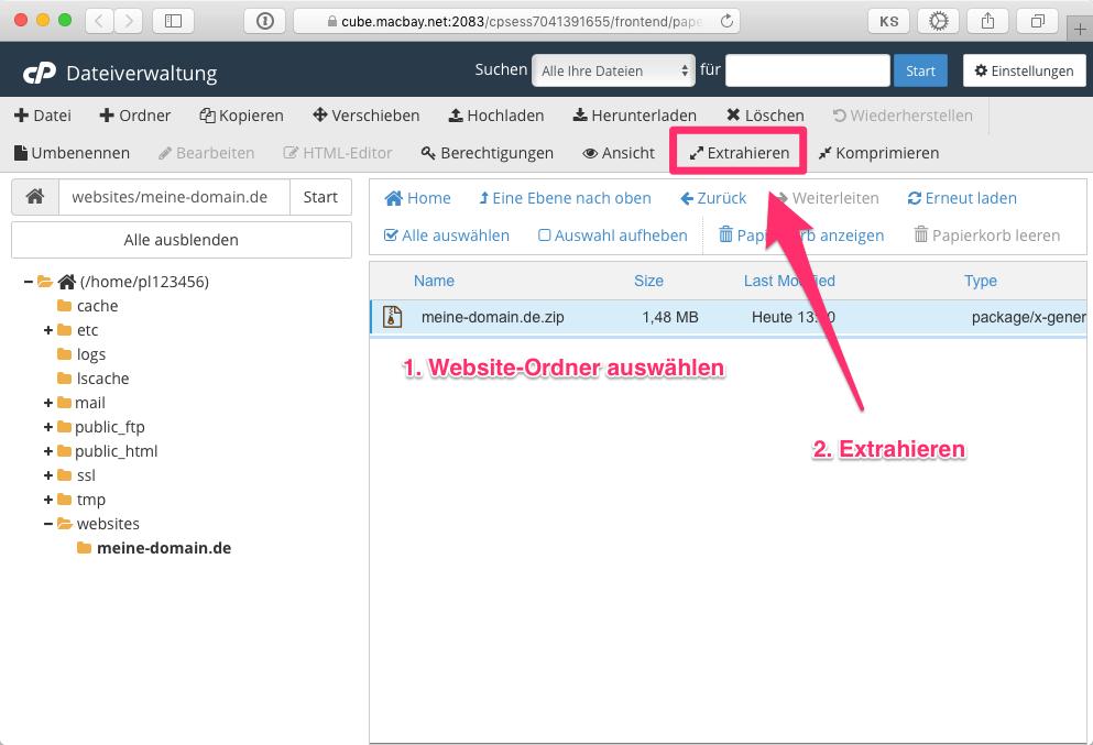 Daten-Website-Verzeichnis